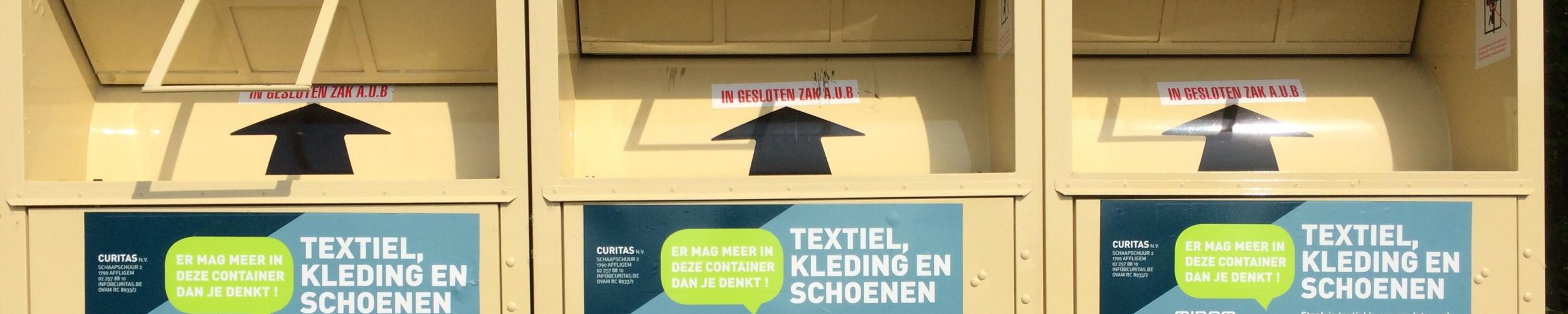 Textielcontainers: er mag meer in dan je denkt